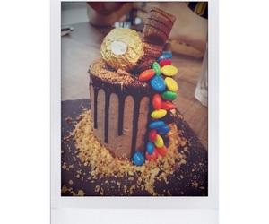 cake, chocolate cake, and dessert image