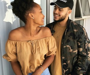 Afro, boyfriend, and couple image