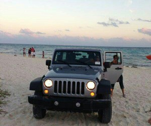 beach, great, and jeep image