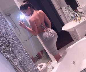 booty, dress, and mirror selfie image