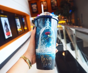 beauty and the beast, belle, and blue image