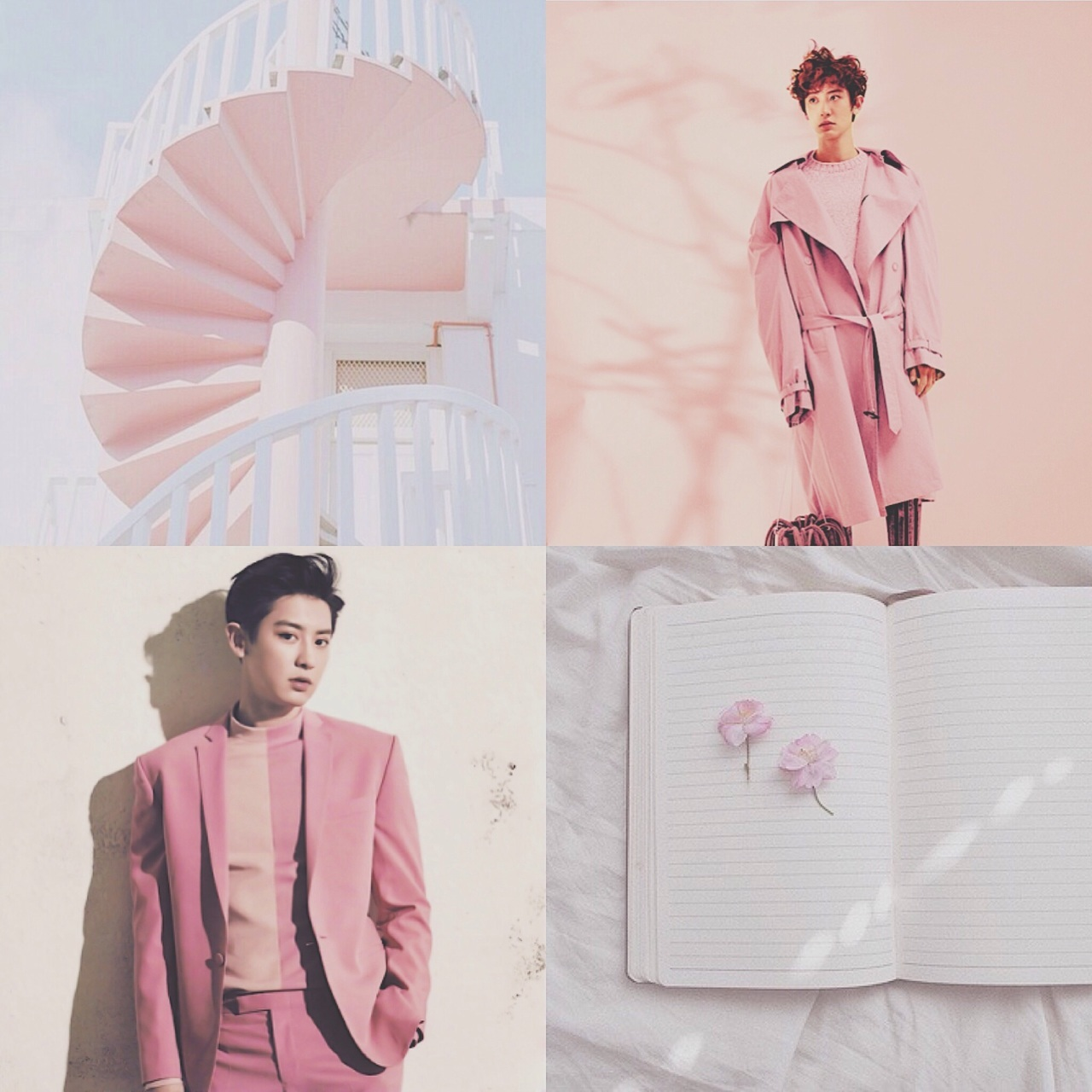 exo, moodboard, and pastel image