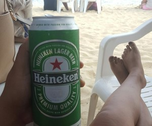 beach, heineken, and summer image