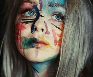 girl, colors, and art image
