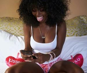 melanin, hair, and pretty image