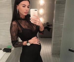 girl and pregnant image