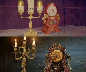 animation, clock, and beauty and the beast image
