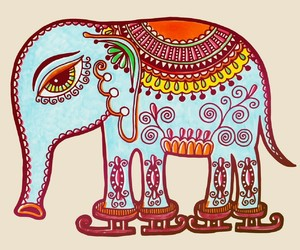 design, elephant, and funky image
