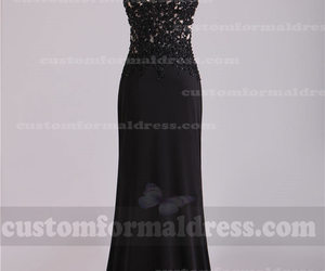 black prom dresses, long prom dresses, and black evening gowns image