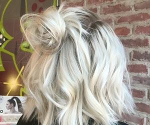 hair, blonde, and blonde hair image