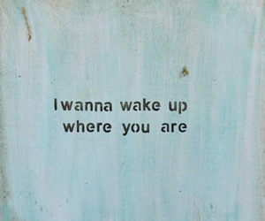 love, quotes, and wake up image
