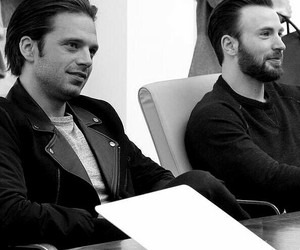 chris evans and sebastian stan image
