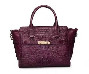 carryall, crocodile leather, and top handle image