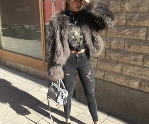 bag, beautiful, and fur image