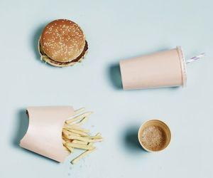 food, pastel, and burger image