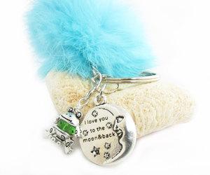 etsy, mermaid keychain, and fluffy keychain image