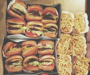 burgers, fries, and foodporn image
