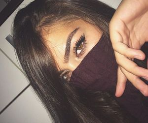 beautiful, brown hair, and lashes image