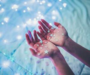 stars, light, and blue image