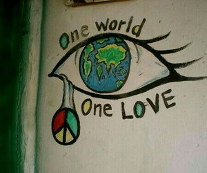 peace, one love, and world image
