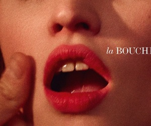 girl, red lips, and lips image
