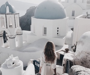 girl, travel, and Greece image