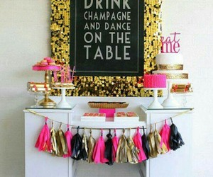 party, champagne, and decoration image