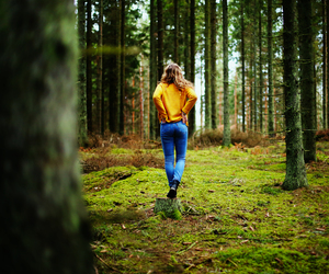 fashion, forest, and girl image