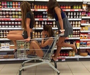 amigas, perfect, and supermercado image