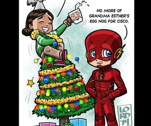 christmas, the flash, and barry allen image