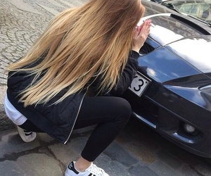 beauty, car, and blonde image