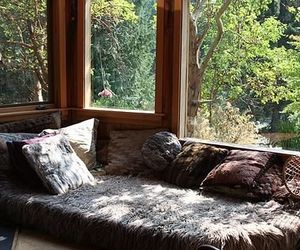 cozy, pillows, and wood image