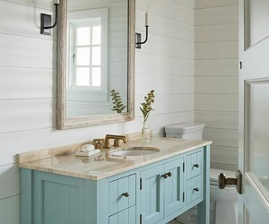 bathroom, cottage style, and home decor image