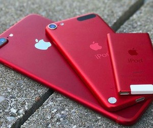iphone, red, and apple image