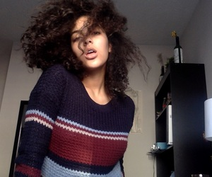 curly hair, dominican, and girl image