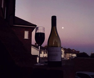 pink, sky, and wine image