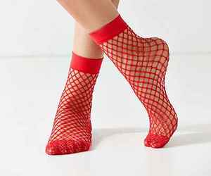 fashion, fishnet, and red image