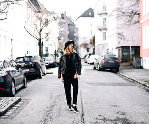 fashion, leather, and minimalist image