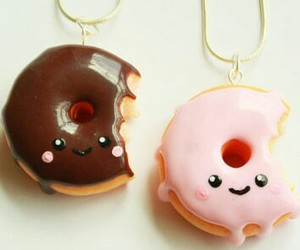 donuts, kawaii, and necklace image