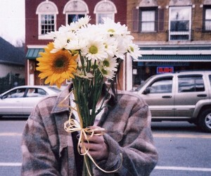 flowers, vintage, and boy image