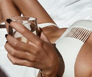 bikini, white, and girl image