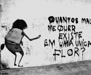 frases, black and white, and flor image