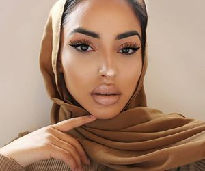 girl, beauty, and hijab image