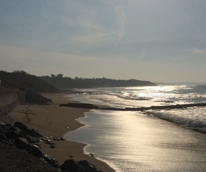 Biarritz, eau, and plage image