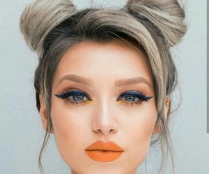 blue, lips, and hair image