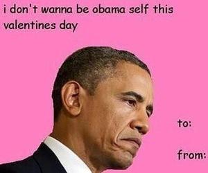 obama, funny, and valentine image
