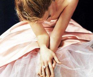 dress, hair, and elegant image