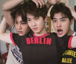 exo, suho, and kai image