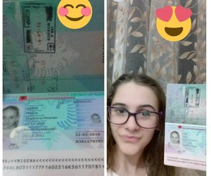 beautiful, passport, and holiday image