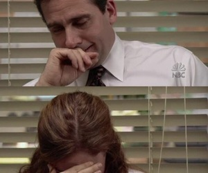 pam beesly, the office, and michael scott image
